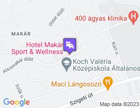 Hotel Makár Sport & Wellness a térképen